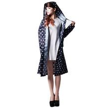 Лидер продаж в горошек милые женские плащи Открытый Путешествие Водонепроницаемый Tour дождевик женский спортивный костюм куртка-дождевик пончо