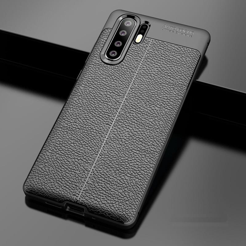 5b1d4ea2f05 YUETUO patrón de cuero suave tpu teléfono trasero etui, coque, cubierta,  funda para huawei p30 pro p 30 p30pro accesorios de silicona