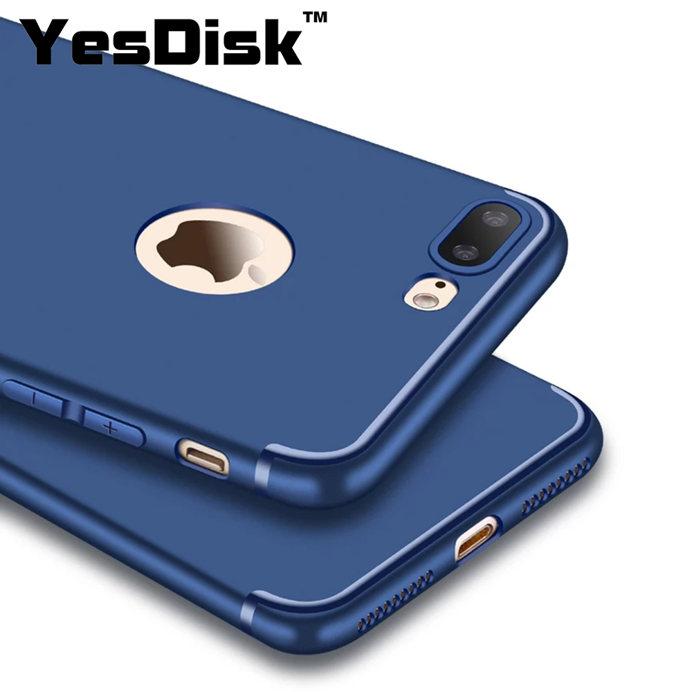 Waterproof Plain for iPhone 7 Plus Phone Cover Casing Silicon Accessories Colors carcasa de telefono for iphone 8 plus case