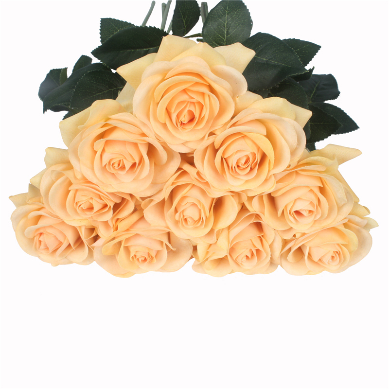 JAROWN Artificial Real Touch Hand Feel Rose Flowers For Valentine`s Day Preparation Wedding Decoration Home Decor (14)