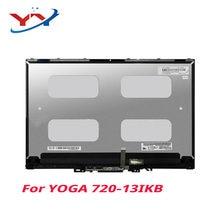 Original novo para yoga 720-13ikb 720-13 lp133wf4 spb1 1920x1080 montagem da tela lcd com quadro