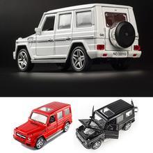 1:32 Сплав модель автомобиля звуковой светильник Вытяните назад игрушечный автомобиль для Benz G65 SUV Jeep AMG