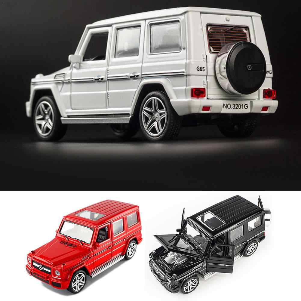 1:32 Alloy Model Car Sound Light Pull Back Toy Car For Benz G65 SUV Jeep AMG