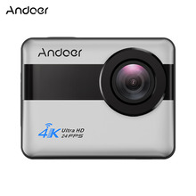 Andoer 4K WiFi Sports Action Camera 1080P Full HD 20MP Novatek 96660 Chipset Touch Screenmpt with 170 Degree Wide Angle Lens