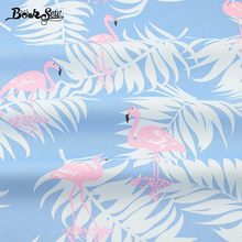 Booksew Cotton Twill Fabric Red-crowned Crane Design Blue Sewing Cloth For Quilting Patchwork Bedding Baby Pillow Cushion Telas(China)