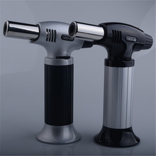 Creative metal straight into the windproof welding spray gun lighter outdoor barbecue kitchen ignition portable practical