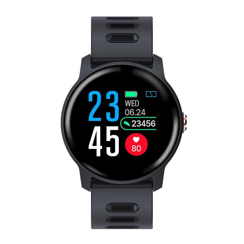 Hommes montre intelligente S 08 SENBONO IP68 Fitness Tracker moniteur de fréquence cardiaque podomètre Smartwatch pour Android IOS gris étanche téléphone