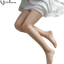 Female summer slim skin color pantyhose women fashion stockings girl thin section toes full transparent sexy tights