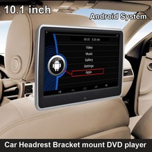 10.1 inch Android System Car Headrest Bracket Multimedia Player USB SD WiFi Function (DVD option)