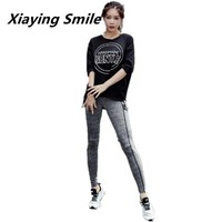 Xiaying Smile Women Loose Breathable Wholesale Sport Running Set Yoga Summer Quick Dry Gym Fitness Yoga Workout Sportswear Suit
