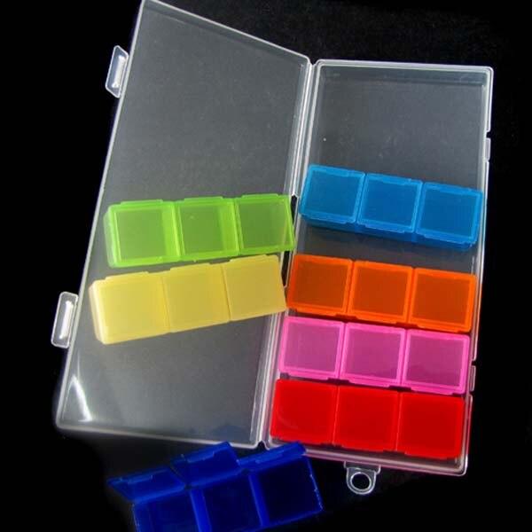 Новая Яркая Радуга 7 Семь Дней Pill Box Медицина хранения наркотиков Jewel Case