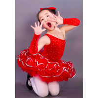 Vestidos Kids Dresses For Girls child Leotard Evening Dress Princess Child Costume Female Latin Dance Clothes 8008