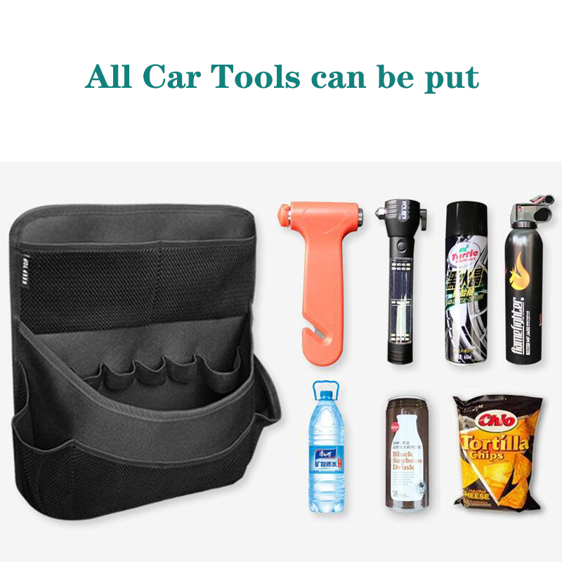Image 4 - New car organizer Car trunk storage bag net bag thickening storage box car seat organizer waterproof material free shipping-in Stowing Tidying from Automobiles & Motorcycles