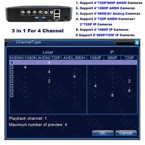Image 4 - 5 IN1 AHD 1080N 4CH 8CH CCTV DVR مسجل فيديو رقمي صغير 5IN1 ل CCTV عدة VGA HDMI نظام الأمن NVR صغيرة ل 1080P IP كاميرا Onvif DVR PTZ