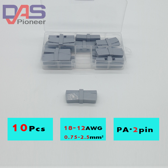 10 Piece Single 2 Pin Cable Wire Wiring Connecting Connector for ...