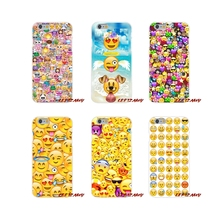 TPU Transparent Cases Covers For Samsung Galaxy S3 S4 S5 MINI S6 S7 edge S8 S9 Plus Note 2 3 4 5 8 smile Coque Funny Emoji Happy