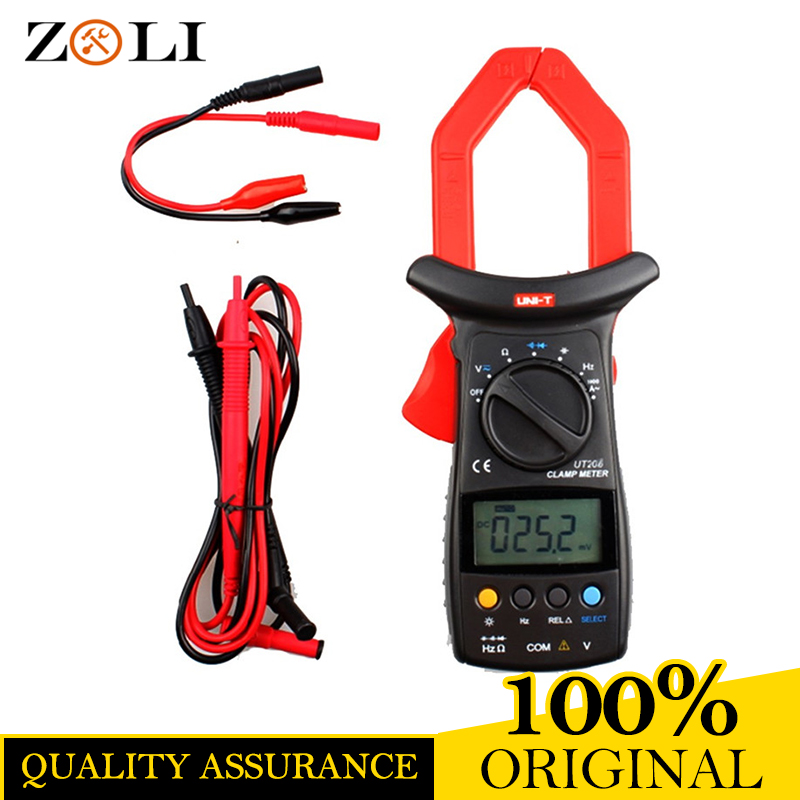 2018 Newest UNI-T UT206 Clamp Meter with Temperature LCD Backlight UT206 3999 Count Auto Range DMM Digital Clamp Multimeters цена