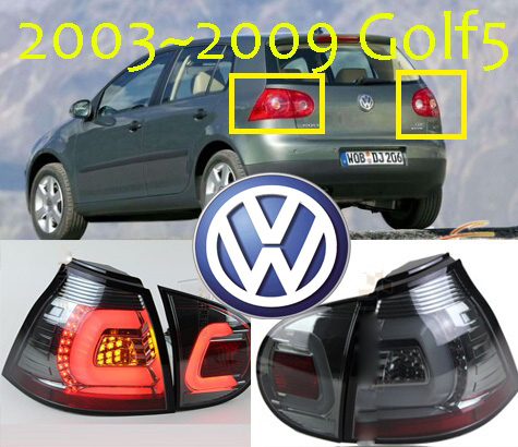 Golf5 taillight,2003~2009year,LED,Free ship!touareg,sharan,Golf7,routan,polo,passat,magotan,jetta,vento,Golf5 rear lamp for volkswagen polo mk5 vento cross polo led head lamp headlights 2010 2014 year r8 style sn