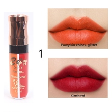 Sexy Red Lip Tint 6 Colors Waterproof Nude Matte Velvet Glossy Gloss Balm Long Lasting Shimmer Two-tone Liquid Lipstick