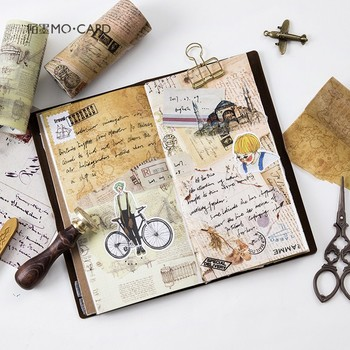 10cm * 5m kreatywny da vinci nuty vintage mapa taśma Washi kreatywny samoprzylepne taśma diy do scrapbookingu etykieta samoprzylepna taśma maskująca