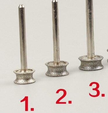 4da2290aa83 16 18 20mm 3 pcs Pulseira Ferramentas Abrasivas Ágata Jade Pulseira Anel  Polimento Moagem Cabeça 6mm Shank Diamante Circular Roda de Esmeril