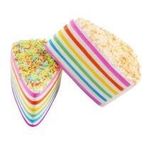MUQGEW 2017 Hot Sale Squishy Rainbow Cake Bread Phone Straps Slow Rising Bun Charms Gifts Toys