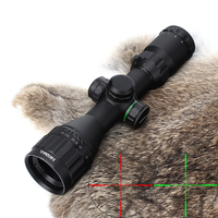 Hunting Optics 3 9x32 AO Compact Mil Dot Red Green Illuminated Reticle Riflescopes with Sun Shade Tactical Rifle Scope