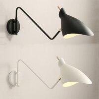 Loft Vintage industrial jielde long Arm adjustable Wall Lamp Reminisce Retractable E14 LED wall lights for bedroom living room