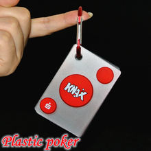 Transparent plastic PVC poker Portable hook design waterproof playing cards Creative gift poker