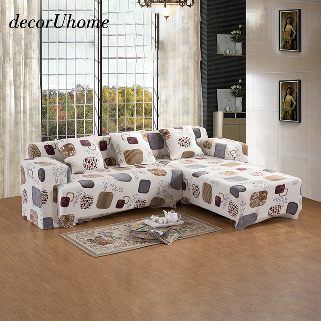 decorUhome Elegant Graph Thick Sofa slipcovers Tight Wrap All