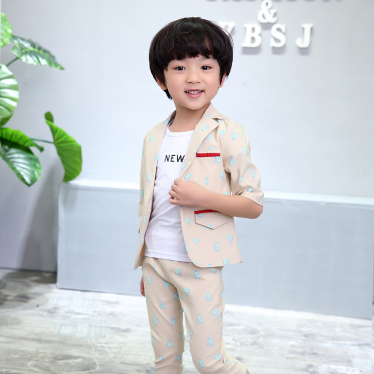 ActhInK New Baby Boys Summer Formal Cartoon Clothing Set Kids Half - Children's Clothing - Photo 3
