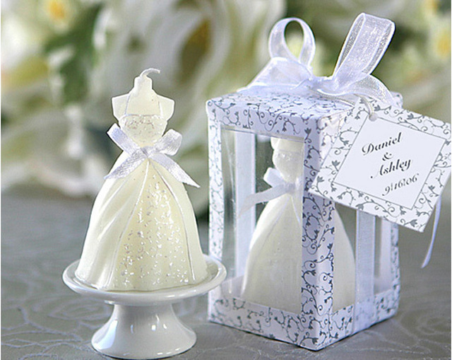 20pcs/lot Wedding Dress Candle Favor Gifts Party Favor For Guest