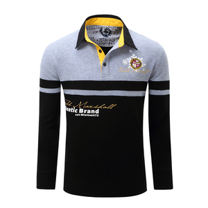 Image 4 - ZOGAA Mens Polo Shirt High Quality Cotton Long Sleeve Polo Shirt Spring Autumn Male Patchwork Lapel Polo Shirt Plus Size S 3XL