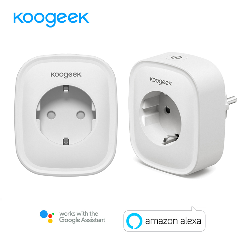 2PCS Koogeek Smart Wifi Socket EU Power Plug Smart Home Plug Wireless Outlet APP Remote Control For Amazon Alexa Google Home g6 tactical smartwatch