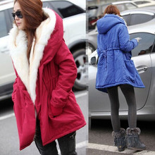 2016 new autumn Thick Faux fur lining women s winter plush liner windbreaker jacket and long