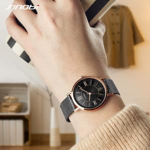 Image 2 - SINOBI Hot Sale Classic Women Watches Black/Golden Luxury Simple Stainless Steel Bracelet Watch Ladies Wristwatch Reloj Mujer