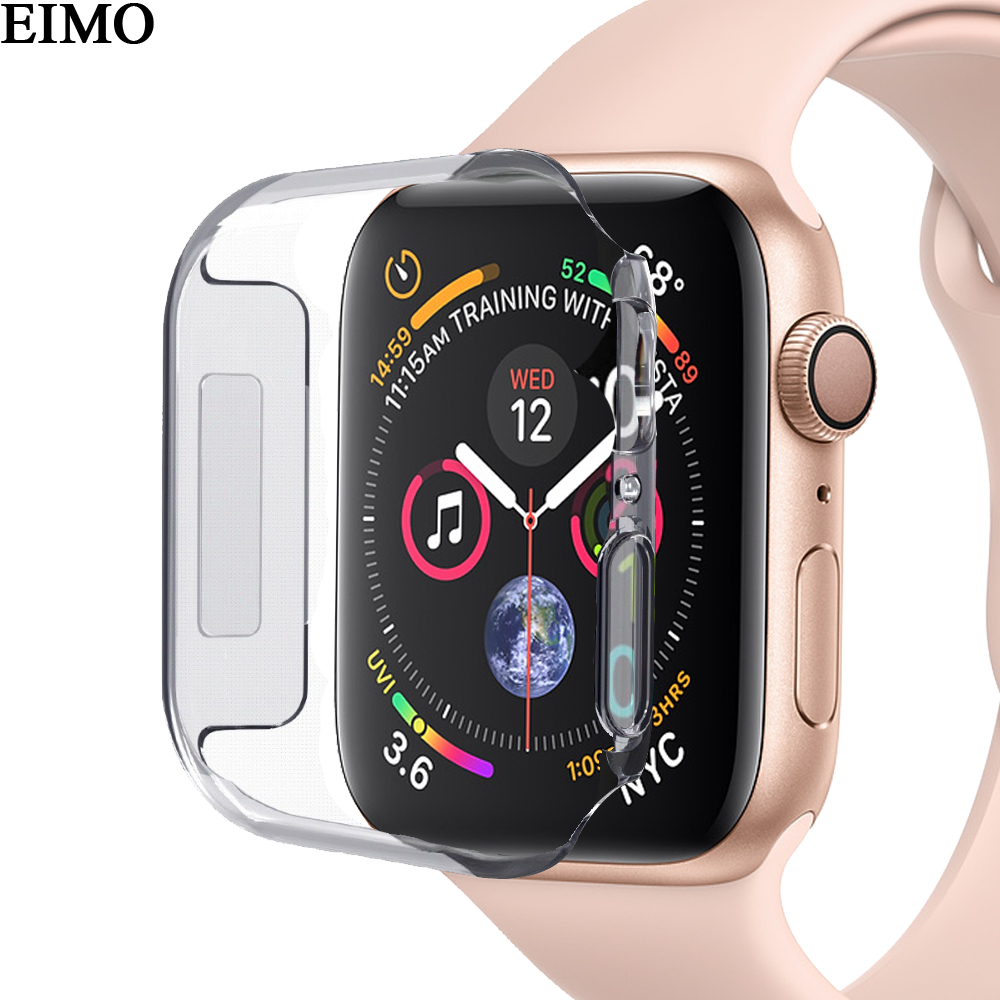 EIMO Silicone Case for Apple Watch bands 42mm 44mm iwatch series 4/3/2/1 40mm 38mm Ultra-thin Protector shell Cover Accessories aqua nl ultra pikeperch 5000m 0 40mm 13 9g