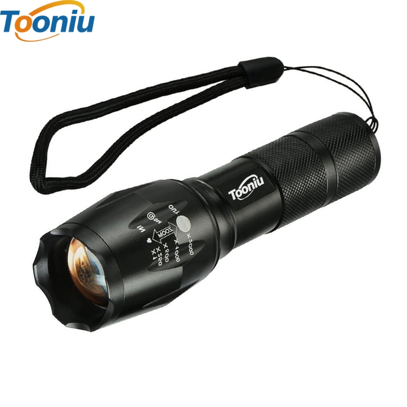 LED flashlight Tactical Flashlight 8000 Lumens CREE XM-L2 Zoomable 5 Modes aluminum Lanterna LED Torch Flashlights For Camping powerful handlight outdoor tactical flashlight 1300lm tactical led flashlight torch outdoor waterproof aluminum alloy
