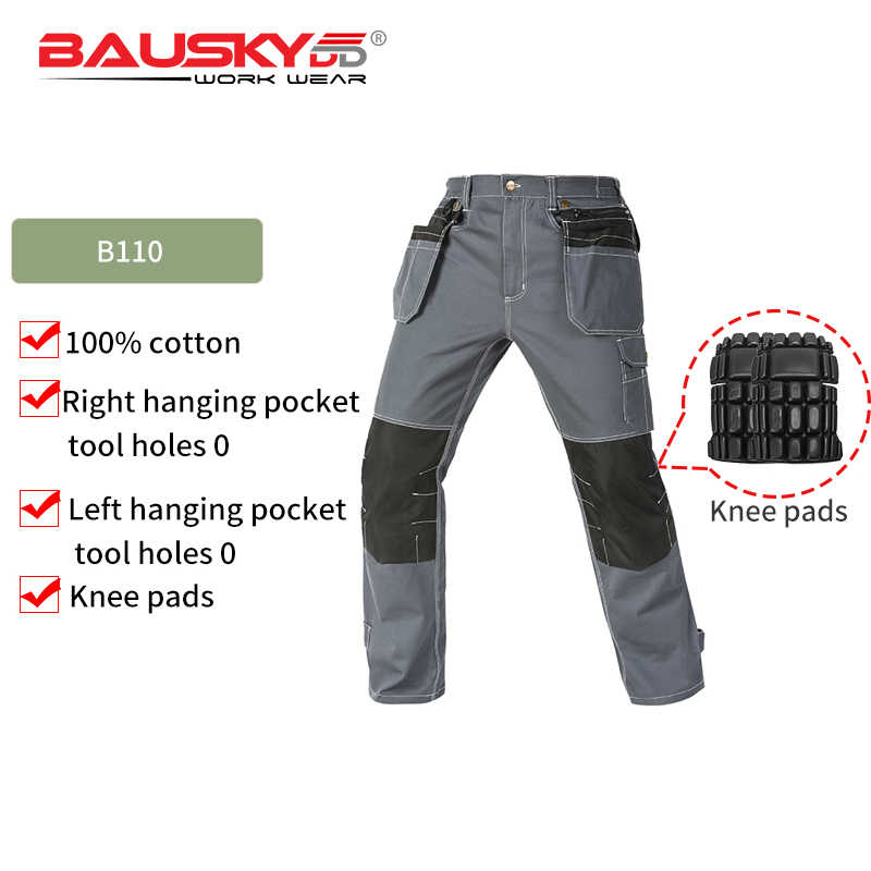Bauskydd workwear B109 men's safety work pants overalls