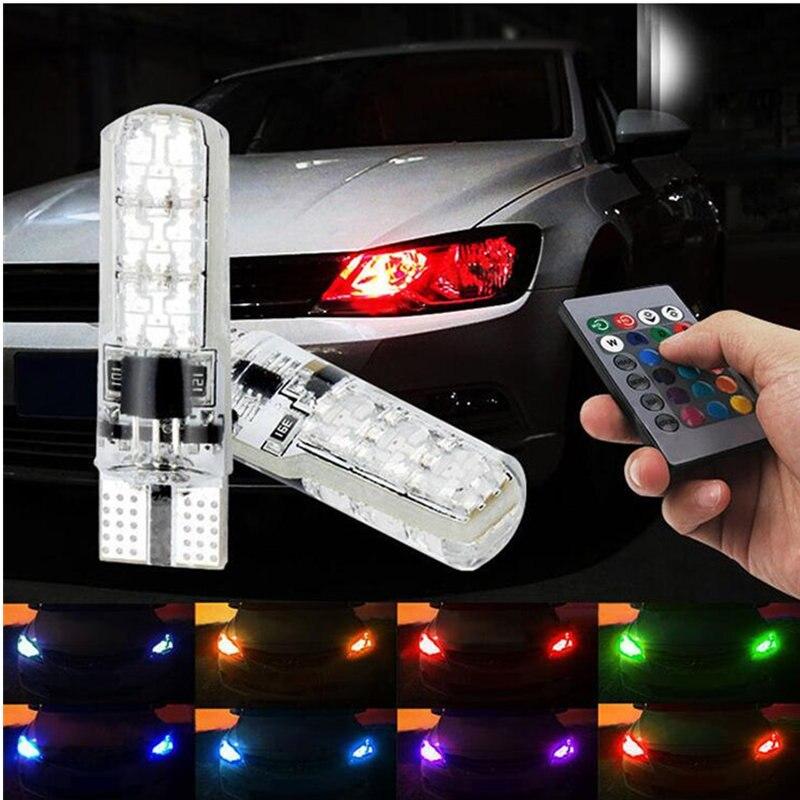 For Hyundai Solaris Accent I30 IX35 Tucson Elantra Santa Fe Getz I20 Sonata I40 I10 Tiburon RGB T10 LED Car Parking Lights Bulb