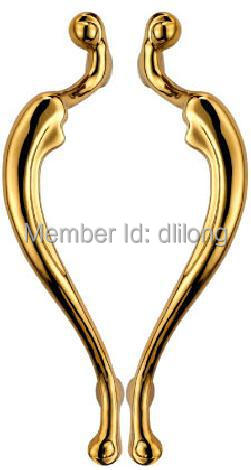new design luxury good quality brass door handle front glass door heart shape handles d117