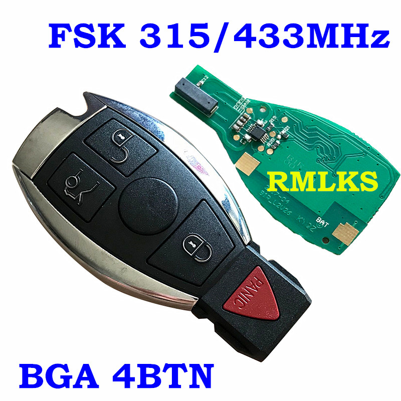 Image 2 - RMLKS 2 3 4 Buttons Intelligent Smart Remote Key 315MHz 433MHz Car Auto Fit For Mercedes Benz 2000+ NEC BGA Type Remote Key Fob-in Car Key from Automobiles & Motorcycles
