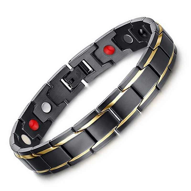 4 in 1 Health Energy Men Bracelet Bangle Germanium Magnet BanglePain Relief for Arthritis Magnetic Energy Therapeutic