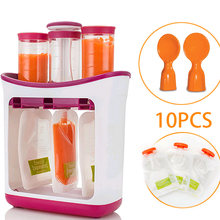 Baby Food Maker Squeeze Organic Food Machine Kids Fresh Fruit Juice Feeding Containers Storage Bags For Newborn Infant Pouches(China)
