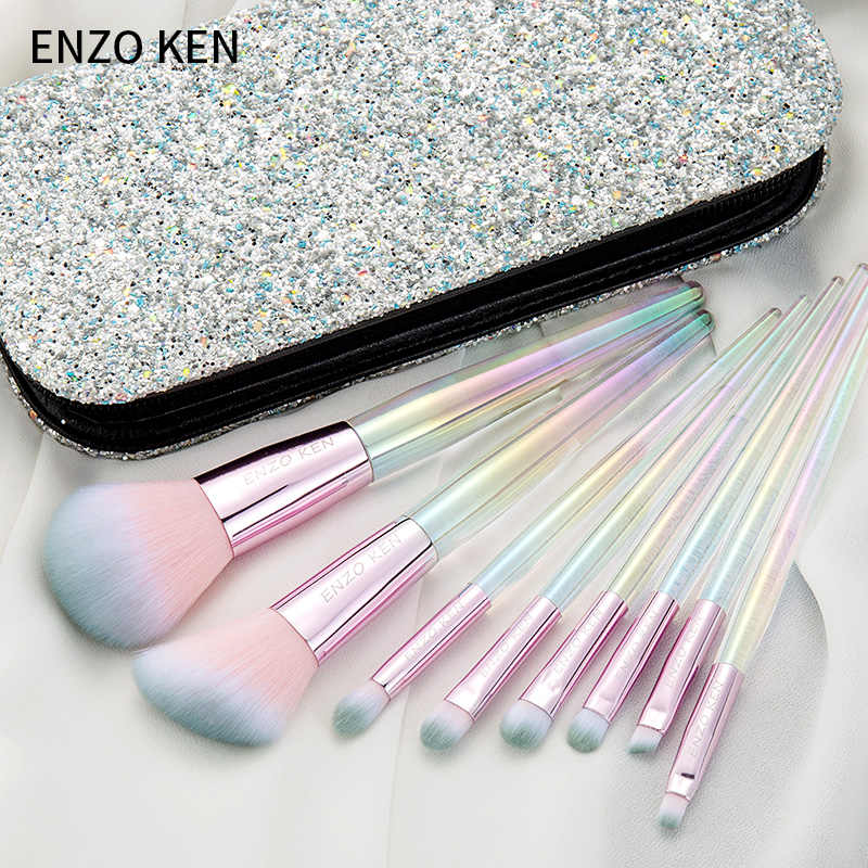 Women Makeup Brushes ENZO KEN 8Pcs Blush Brush Powder Make up Brushes Set Professional