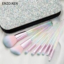 Donne di Trucco Spazzole di ENZO KEN 8Pcs Blush, Fard Spazzola della Polvere Make up Pennelli Set Professionale