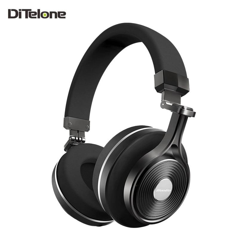 купить  Bluedio T3+/T3 plus Wireless Bluetooth Headphones Headset Stereo Mic For Music 3D Stereo Deep Bass Noise Cancelling