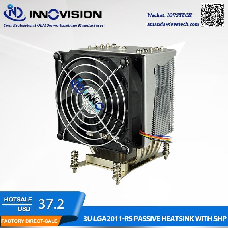 Factory wholesale LGA2011NARROW 3U 4U 5U 6U server heatsink with 5 heat pipe Computer cpu radiator