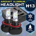 Oslamp High-Low Beam 6000K H13 Car Headlight Kits Auto Styling 9008 Led Headlights CREE CSP Chips SUV LED Bulbs for Car Fan-less