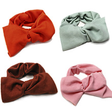 CN Hair Accessories Winter Knitted Headband For Women Girls Solid Knotted Hairband Autumn Turban